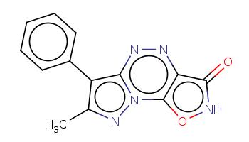 Cc1c(c2nnc3c(=O)[nH]oc3n2n1)c4ccccc4