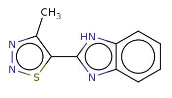 Cc1c(snn1)c2[nH]c3ccccc3n2