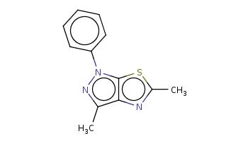 Cc1c2c(n(n1)c3ccccc3)sc(n2)C
