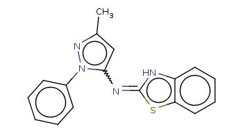 Cc1cc(n(n1)c2ccccc2)N=c3[nH]c4ccccc4s3