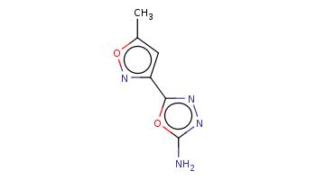 Cc1cc(no1)c2nnc(o2)N