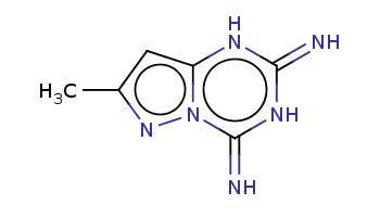 Cc1cc2[nH]c(=N)[nH]c(=N)n2n1