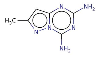 Cc1cc2nc(nc(n2n1)N)N
