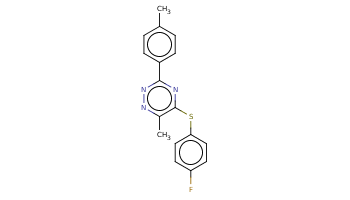 Cc1ccc(cc1)c2nc(c(nn2)C)Sc3ccc(cc3)F