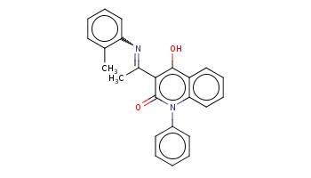 Cc1ccccc1N=C(C)c2c(c3ccccc3n(c2=O)c4ccccc4)O