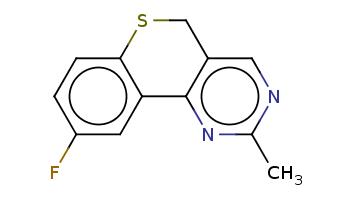 Cc1ncc2c(n1)-c3cc(ccc3SC2)F