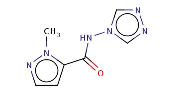 Cn1c(ccn1)C(=O)Nn2cnnc2