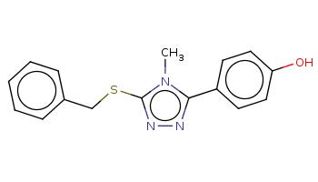 Cn1c(nnc1SCc2ccccc2)c3ccc(cc3)O
