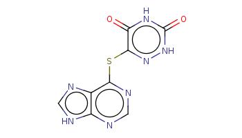 c1[nH]c2c(n1)c(ncn2)Sc3c(=O)[nH]c(=O)[nH]n3