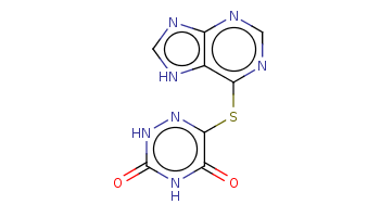 c1[nH]c2c(n1)ncnc2Sc3c(=O)[nH]c(=O)[nH]n3