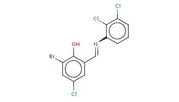 c1cc(c(c(c1)Cl)Cl)N=Cc2cc(cc(c2O)Br)Cl