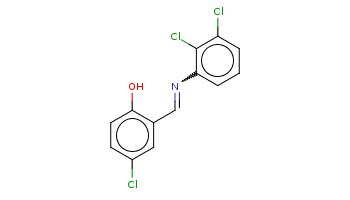 c1cc(c(c(c1)Cl)Cl)N=Cc2cc(ccc2O)Cl