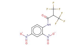 c1cc(c(cc1[N+](=O)[O-])[N+](=O)[O-])NC(=O)C(C(F)(F)F)C(F)(F)F