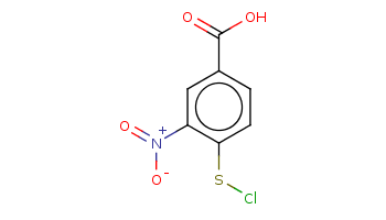 c1cc(c(cc1C(=O)O)[N+](=O)[O-])SCl