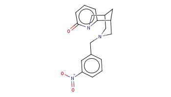 c1cc(cc(c1)[N+](=O)[O-])CN2CC3CC(C2)c4cccc(=O)n4C3