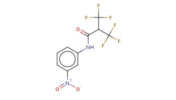 c1cc(cc(c1)[N+](=O)[O-])NC(=O)C(C(F)(F)F)C(F)(F)F