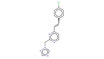 c1cc(ccc1C=Cc2ccnc(n2)Cn3cncn3)Cl