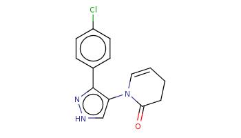 c1cc(ccc1c2c(c[nH]n2)N3C=CCCC3=O)Cl