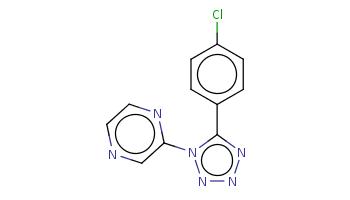 c1cc(ccc1c2nnnn2c3cnccn3)Cl