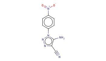 c1cc(ccc1n2c(c(nn2)C#N)N)[N+](=O)[O-]