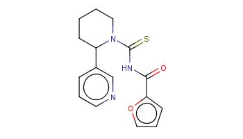 c1cc(cnc1)C2CCCCN2C(=S)NC(=O)c3ccco3
