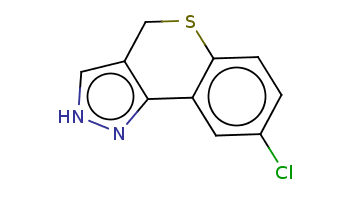 c1cc2c(cc1Cl)-c3c(c[nH]n3)CS2