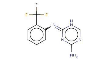 c1ccc(c(c1)C(F)(F)F)N=c2[nH]cnc(n2)N