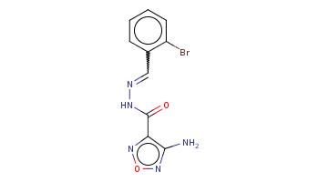 c1ccc(c(c1)C=NNC(=O)c2c(non2)N)Br