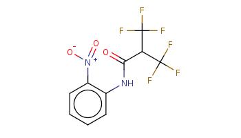 c1ccc(c(c1)NC(=O)C(C(F)(F)F)C(F)(F)F)[N+](=O)[O-]