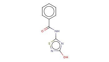 c1ccc(cc1)C(=O)Nc2nc(ns2)O