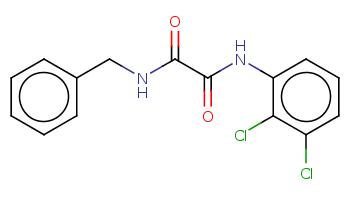 c1ccc(cc1)CNC(=O)C(=O)Nc2cccc(c2Cl)Cl