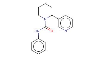 c1ccc(cc1)NC(=O)N2CCCCC2c3cccnc3