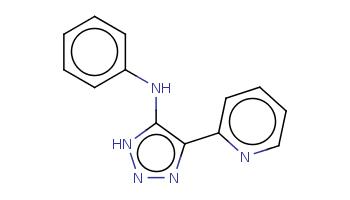 c1ccc(cc1)Nc2c(nn[nH]2)c3ccccn3