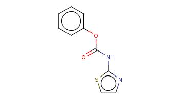 c1ccc(cc1)OC(=O)Nc2nccs2