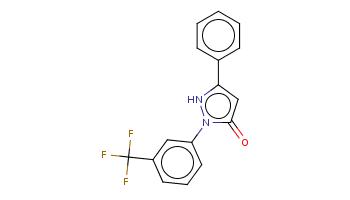 c1ccc(cc1)c2cc(=O)n([nH]2)c3cccc(c3)C(F)(F)F