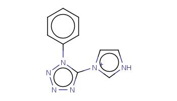 c1ccc(cc1)n2c(nnn2)[n+]3cc[nH]c3