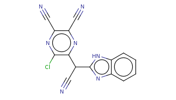 c1ccc2c(c1)[nH]c(n2)C(C#N)c3c(nc(c(n3)C#N)C#N)Cl