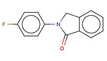 c1ccc2c(c1)CN(C2=O)c3ccc(cc3)F