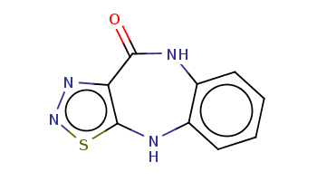 c1ccc2c(c1)Nc3c(nns3)C(=O)N2