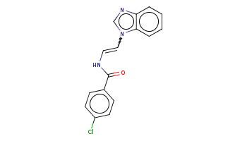 c1ccc2c(c1)ncn2C=CNC(=O)c3ccc(cc3)Cl