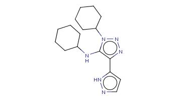 c1cn[nH]c1c2c(n(nn2)C3CCCCC3)NC4CCCCC4