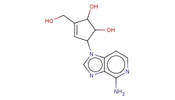 c1cnc(c2c1n(cn2)C3C=C(C(C3O)O)CO)N